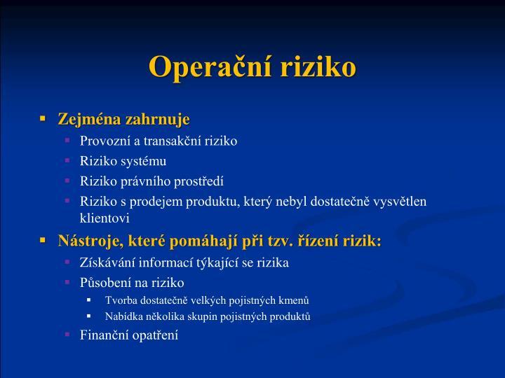 Operační riziko