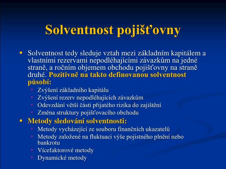 Solventnost pojišťovny