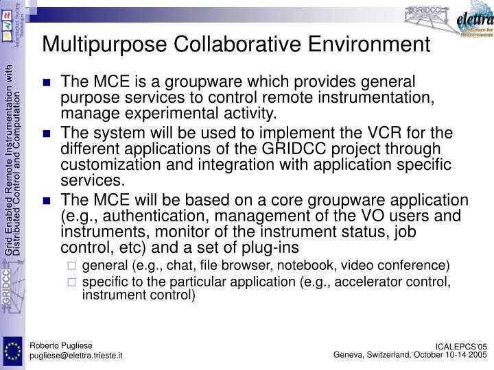 Multipurpose Collaborative Environment