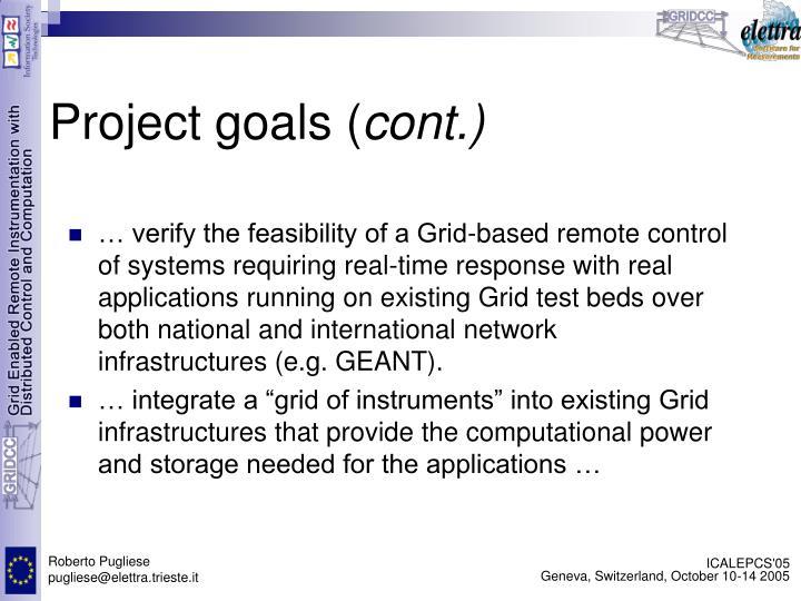 Project goals (
