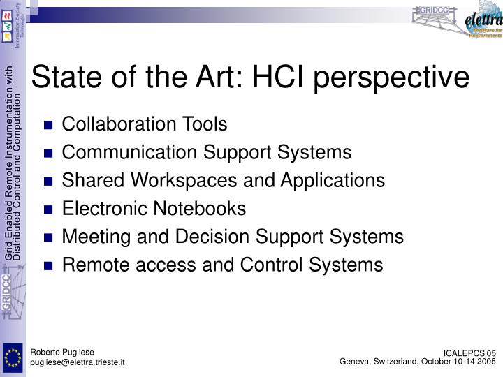State of the Art: HCI perspective
