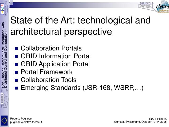 State of the Art: technological and architectural perspective