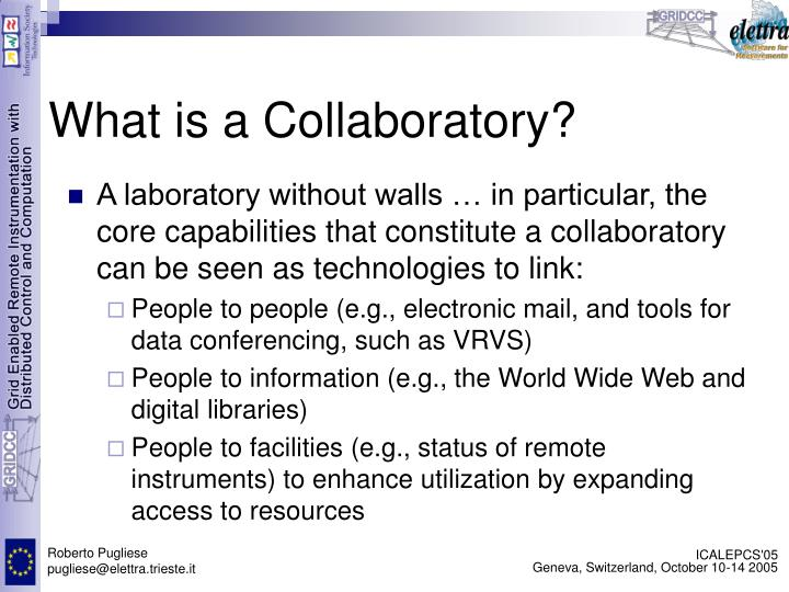 What is a Collaboratory?