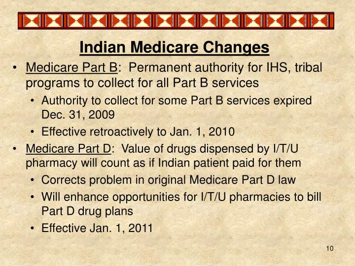 Indian Medicare Changes