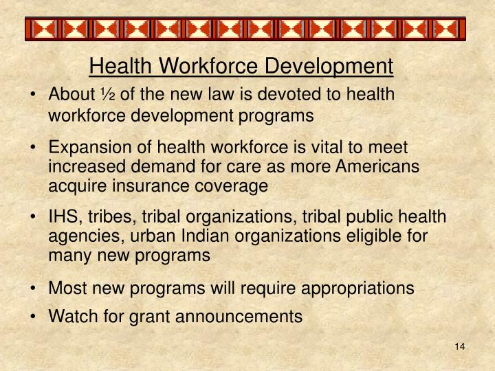 Health Workforce Development