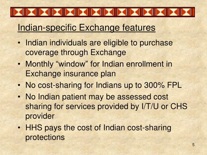 Indian-specific Exchange features