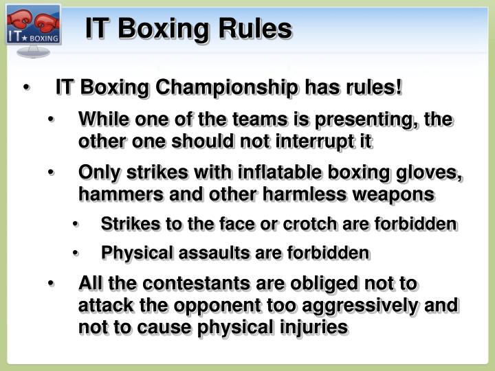 IT Boxing Rules