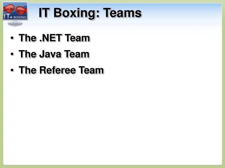 IT Boxing: Teams