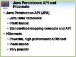 java persistence api and hibernate