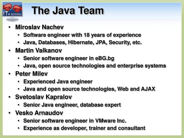 The Java Team