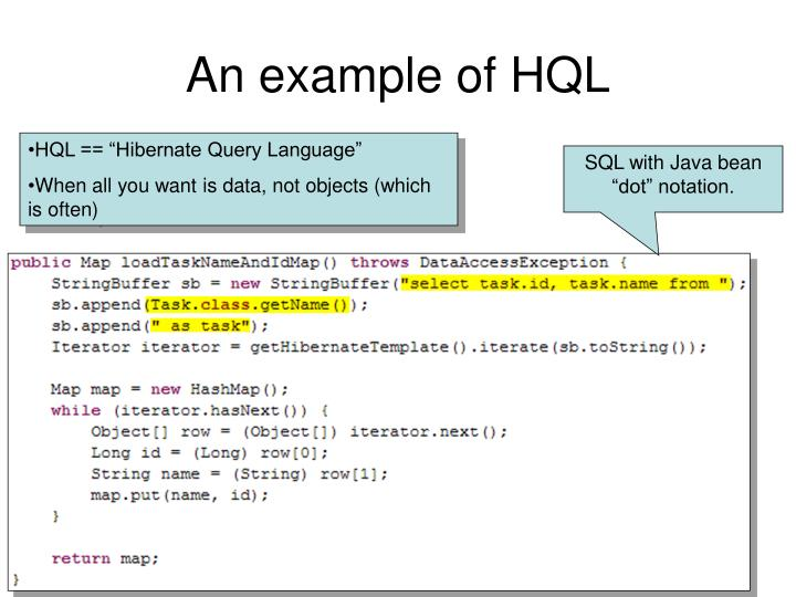 An example of HQL