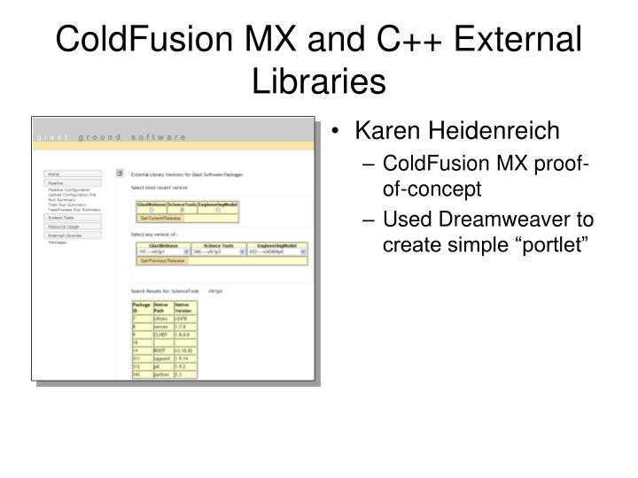 ColdFusion MX and C++ External Libraries
