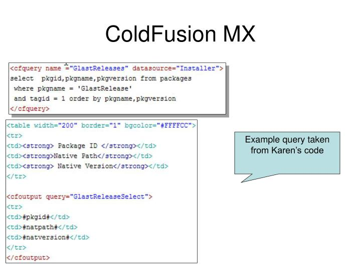 ColdFusion MX