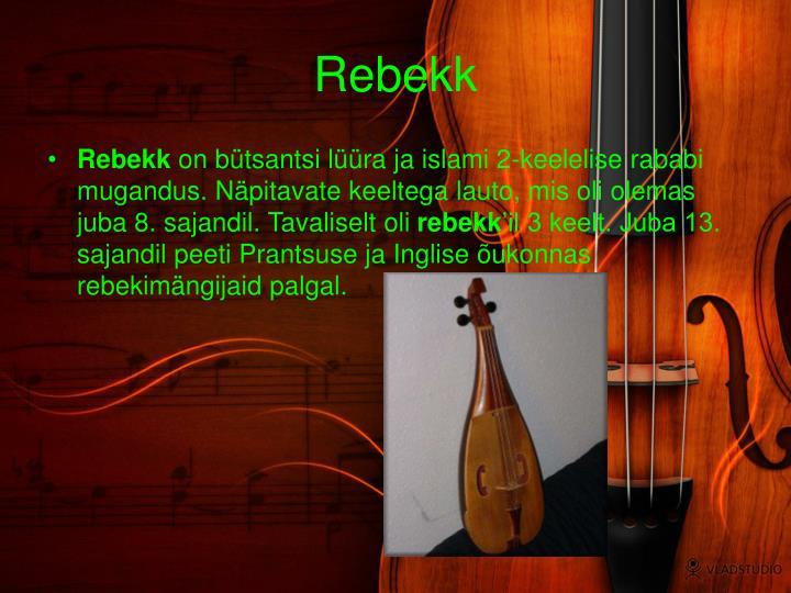 Rebekk