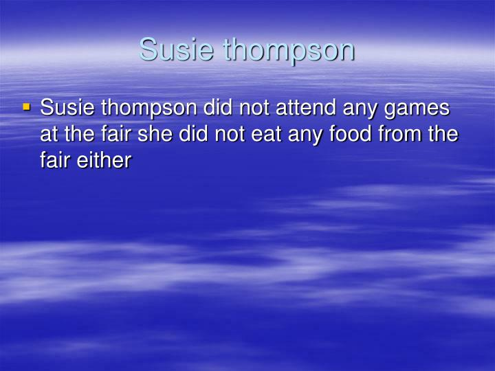 Susie thompson