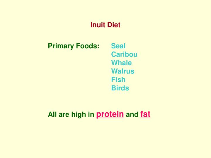 Inuit Diet