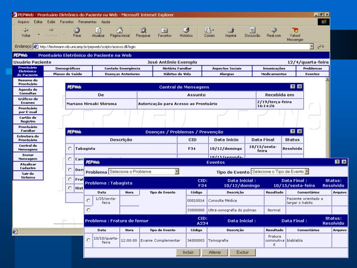 Exemplo: Sistema PEPWeb