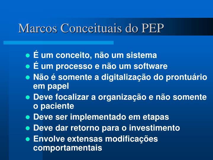 Marcos Conceituais do PEP