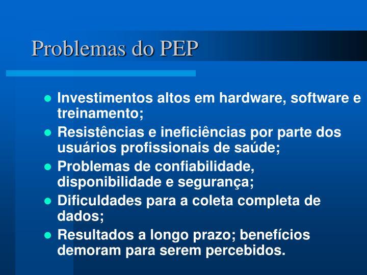 Problemas do PEP