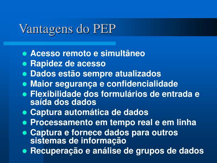 Vantagens do PEP