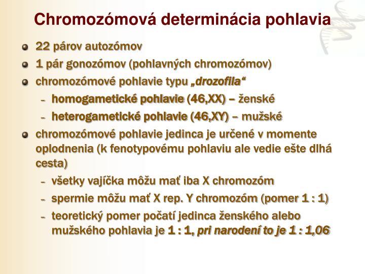 Chromozómová determinácia pohlavia