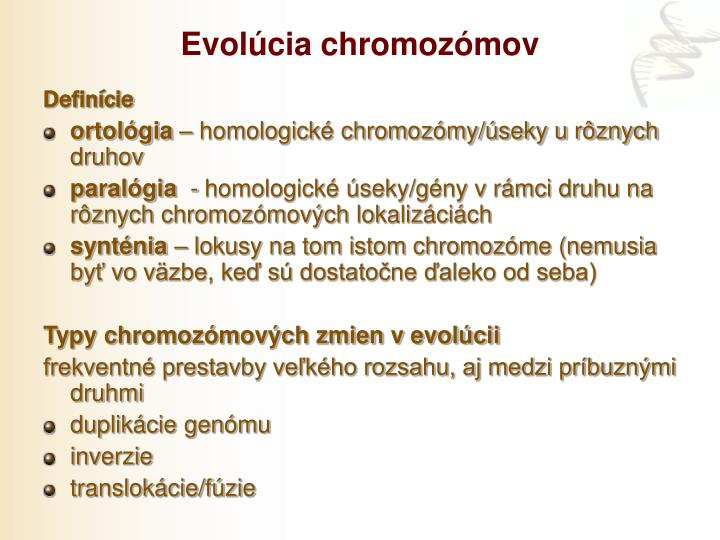 Evolúcia chromozómov