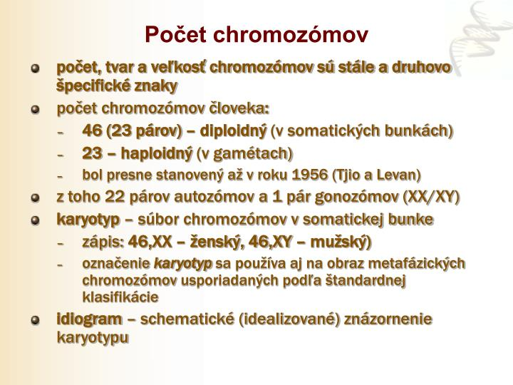 Počet chromozómov