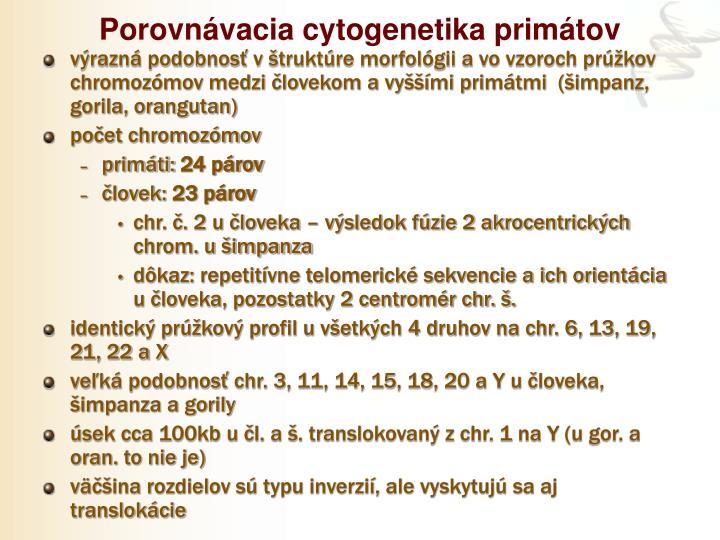 Porovnávacia cytogenetika primátov