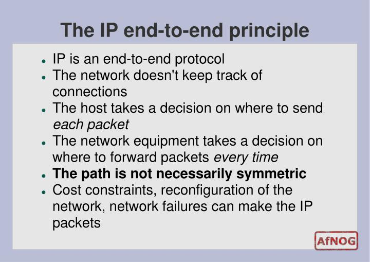 The IP end-to-end principle