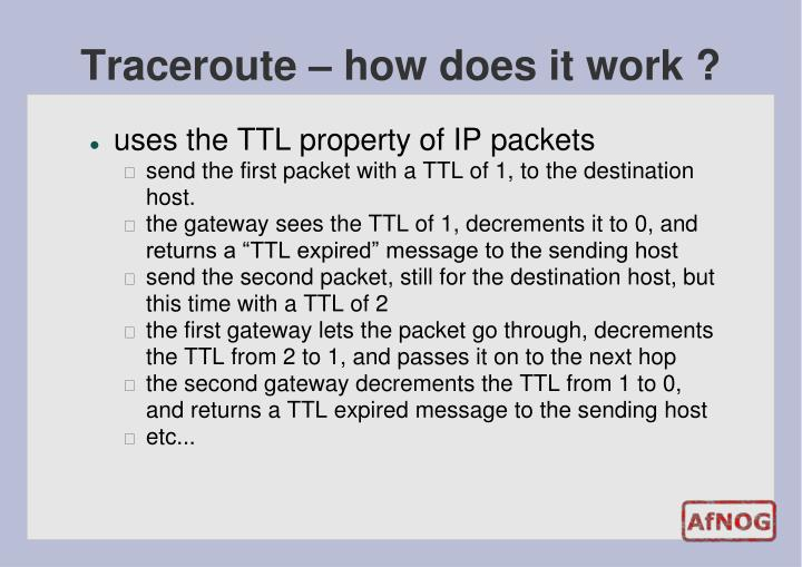 Traceroute – how does it work ?