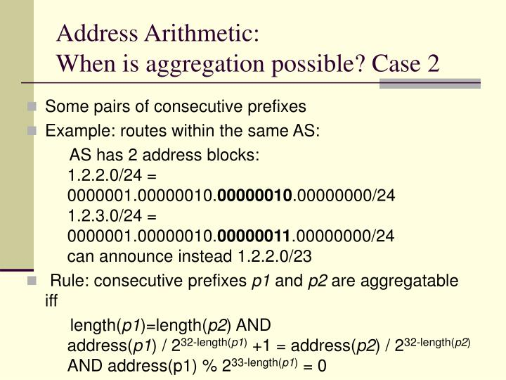 Address Arithmetic: