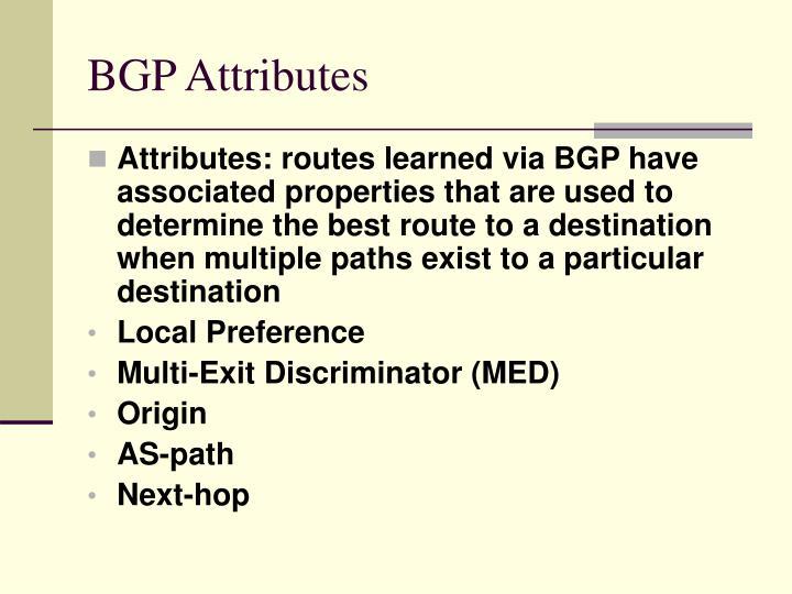 BGP Attributes