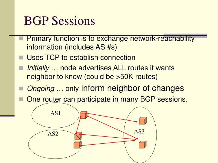 BGP Sessions