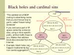 black holes and cardinal sins