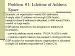 problem 1 lifetime of address space