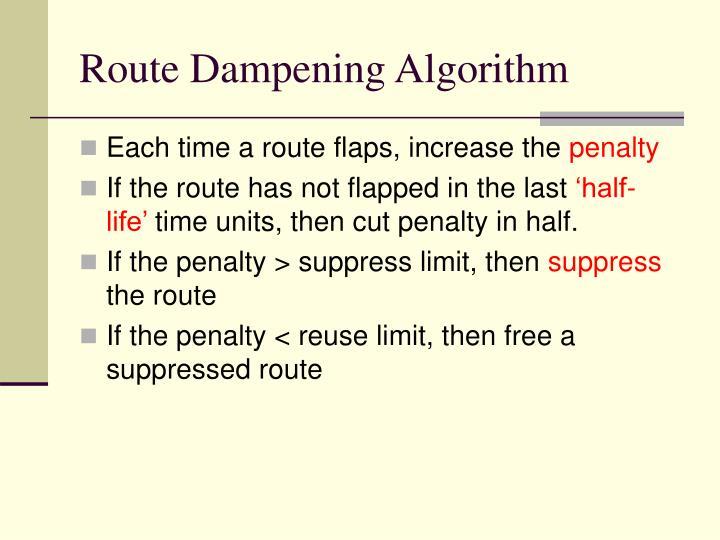 Route Dampening Algorithm