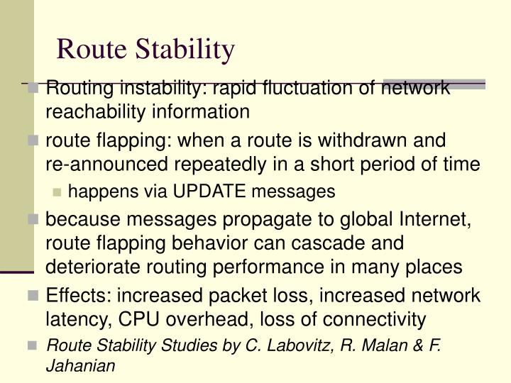 Route Stability