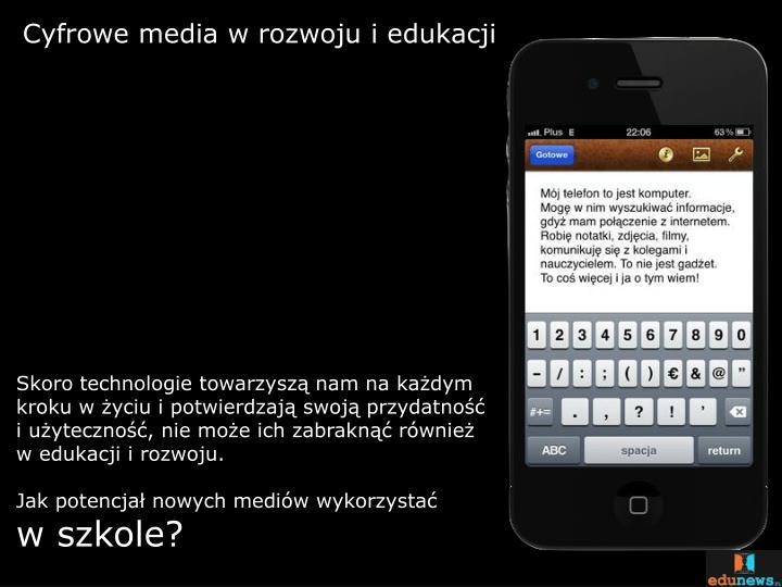 Cyfrowe media w rozwoju i edukacji