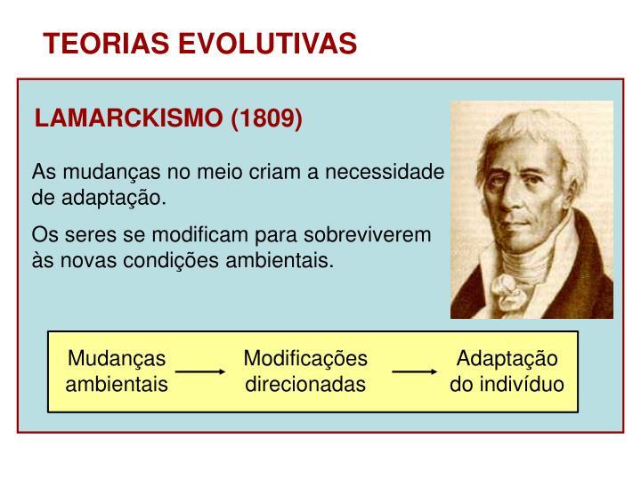LAMARCKISMO (1809)