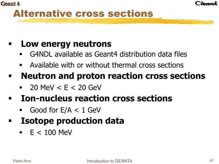 Low energy neutrons