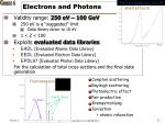 electrons and photons
