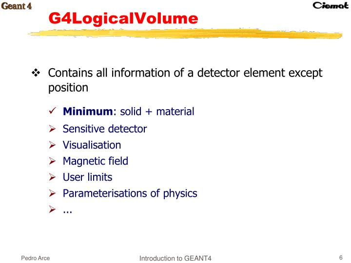 Contains all information of a detector element except position