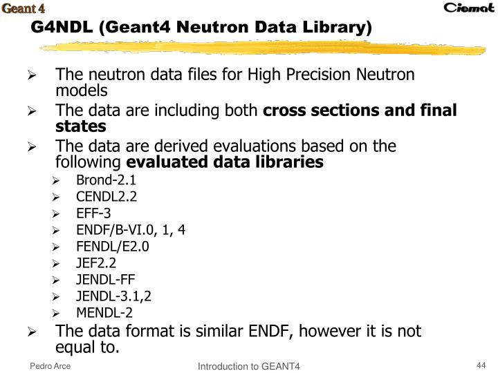 The neutron data files for High Precision Neutron models