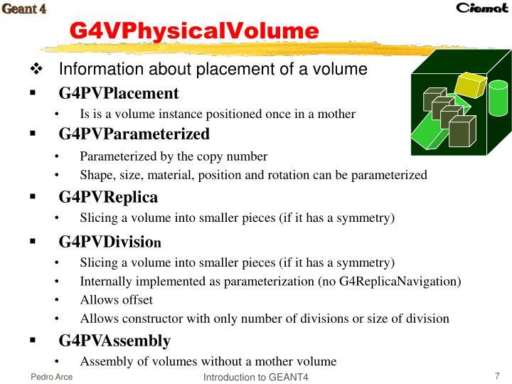 G4VPhysicalVolume