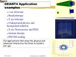 geant4 application examples