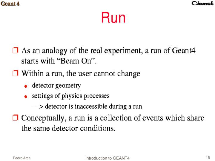 Introduction to GEANT4