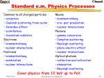 standard e m physics processes