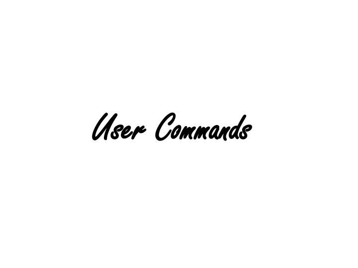 User Commands
