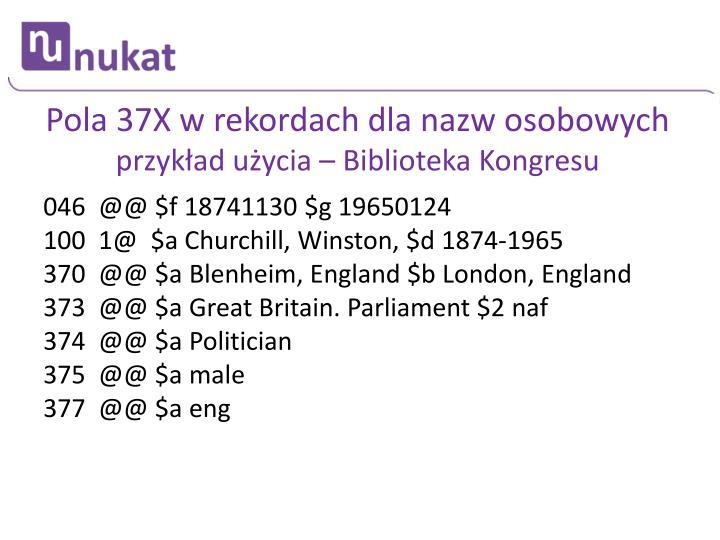 Pola 37X w rekordach dla nazw osobowych