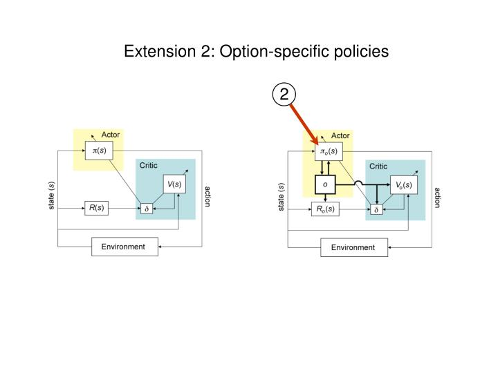 Extension 2: Option-specific policies